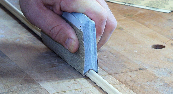 Using a deck of cards to create a custom sanding profile