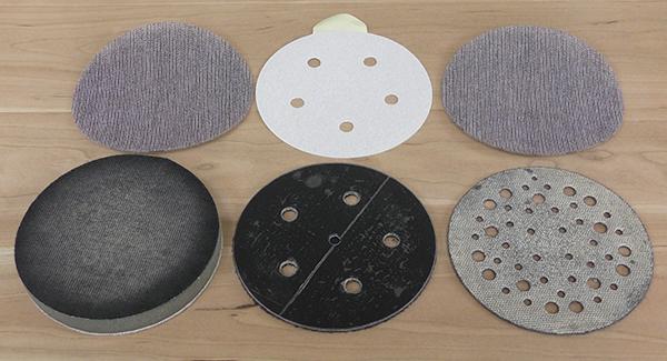Interface pads for random orbit sanders