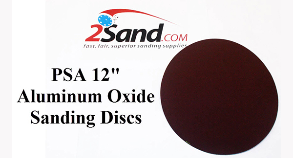 12 inch self adhesive sanding discs from 2Sand.com
